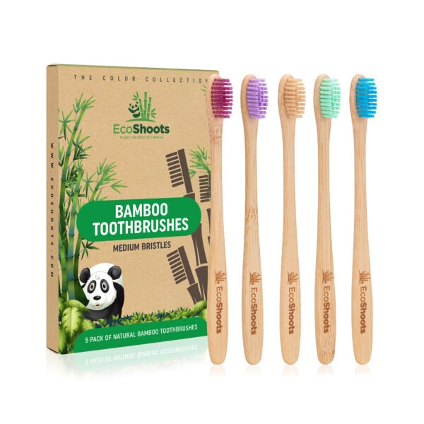 bamboo toothbrush with packaging ecoshoots